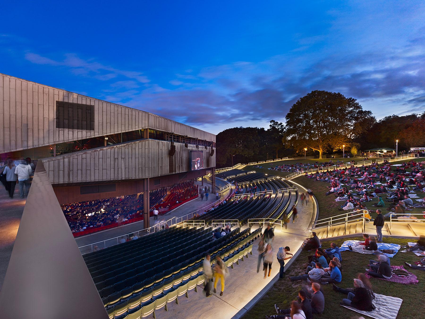 The Mann Center For Performing Arts Beam Illuminating