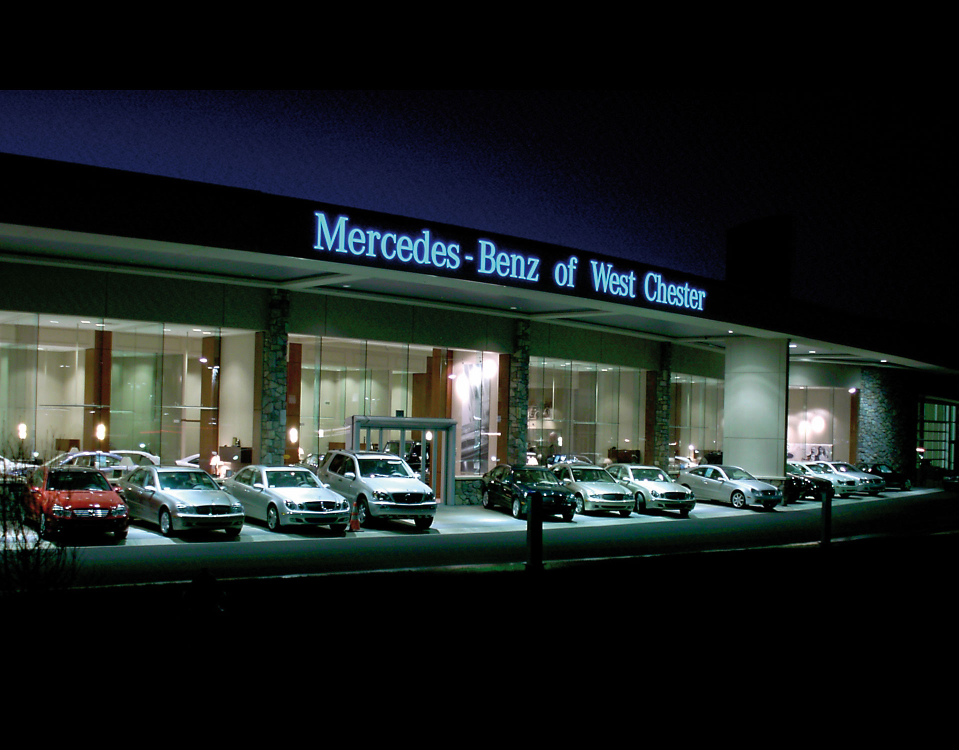 mercedes benz of west chester beam illuminating